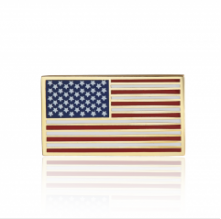 Stock American flag lapel pins (S110)