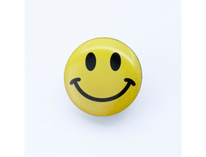 Smiling Face Offset Print Pins