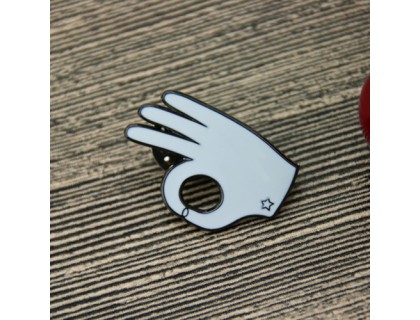 OK Gesture 3D/Cut Out Lapel Pins