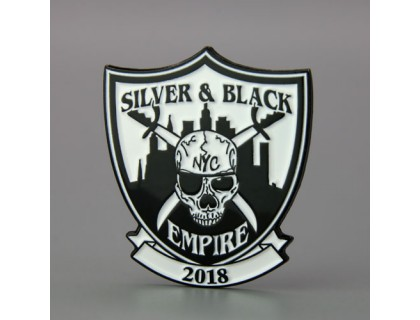 Silver and Black Empire Lapel Pins