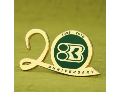 20th Anniversary Enamel Pins