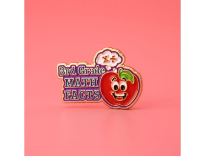 3rd Grade Math Facts Enamel Pins