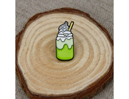 Matcha Ice Cream Enamel Pins