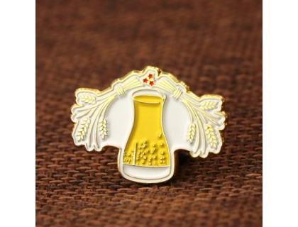 Gold Wheat Lapel Pins