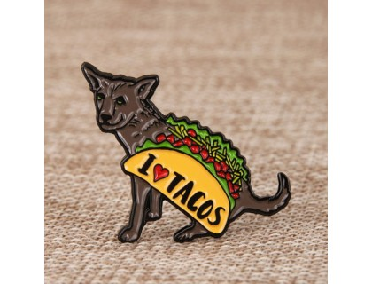 I Love Tacos Lapel Pins