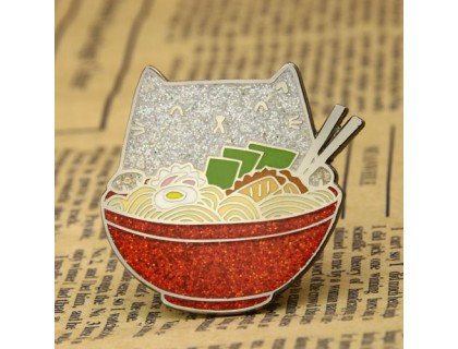 Bowl of Kitten Lapel Pins