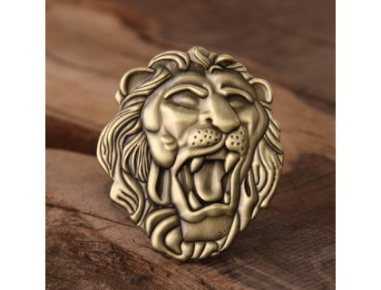 3D Lion Enamel Pins