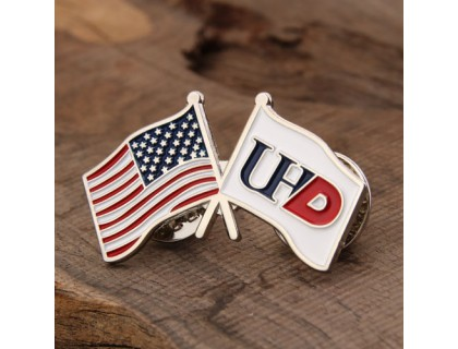 Silver Flag Custom Pins