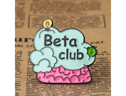 Beta Club Enamel Pins