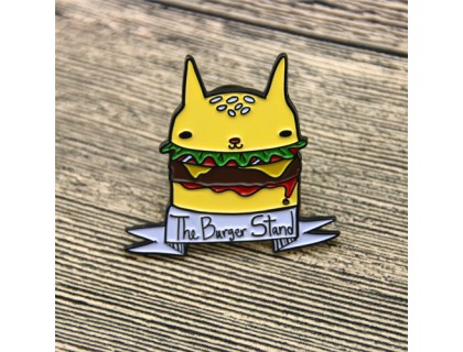 Hamburger Custom Enamel Pins