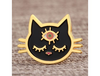 Cat Custom Shirt Pins