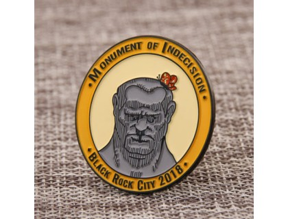 Monument of Indecision Custom Pins