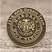 2018 HHS debate Team Enamel Pins