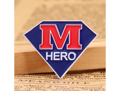 M Hero Enamel Pins Wholesale
