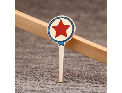 Red Star Enamel Lapel Pins