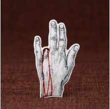 Bleeding Hand Cheap Enamel Pins