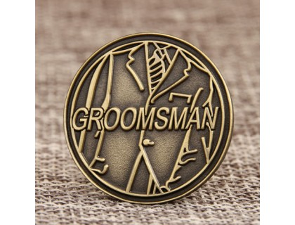 Groomsman Custom Antique Pins