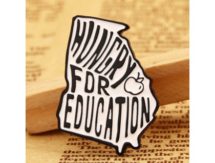 Hungry for Education Enamel Pins Wholesale