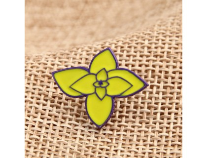Yellow Flower Enamel Pins Custom