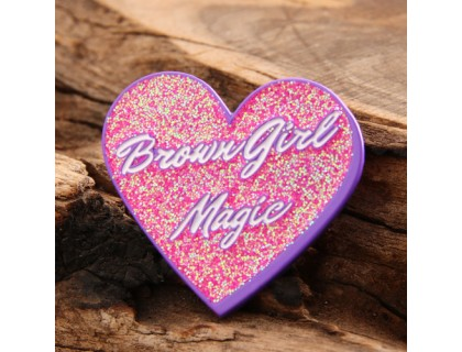 Brown Girl Magic Custom Pins
