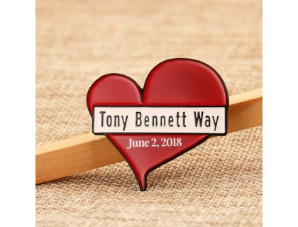 Tony Bennett Way Enamel Pins