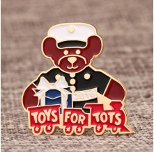 Toys for Tots Enamel Pins