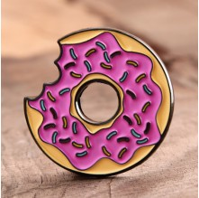 A donut With A Bite Enamel Pins