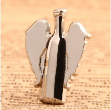 The Bottle With Wings Lapel Pins
