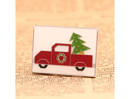 Cartoon Red Truck Custom Enamel Pins