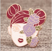 Beautiful Girl Custom Enamel Pins