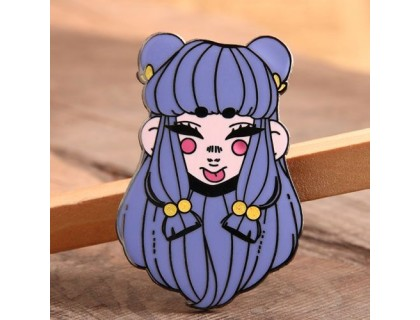 Beautiful Girl Custom Lapel Pins