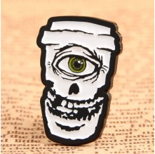 Skull Coffee Mug Custom Pins