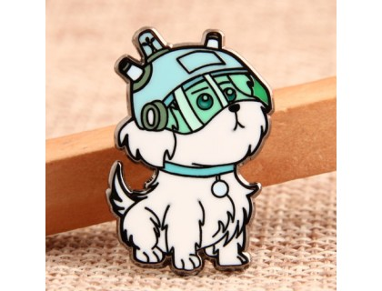 Helmet Dog Custom Pins