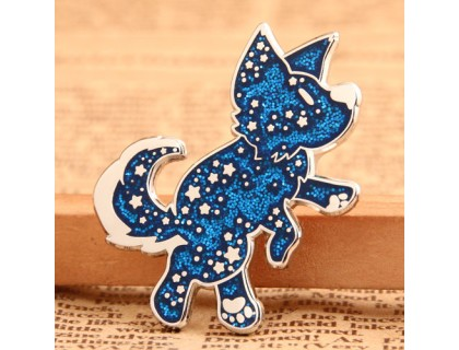 Custom Shiny Dog Lapel Pins