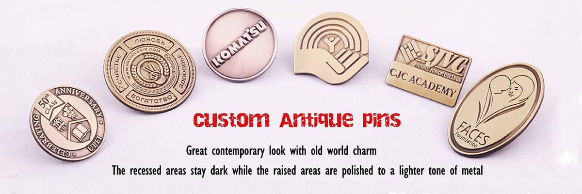 Antique Pins|Customized pins