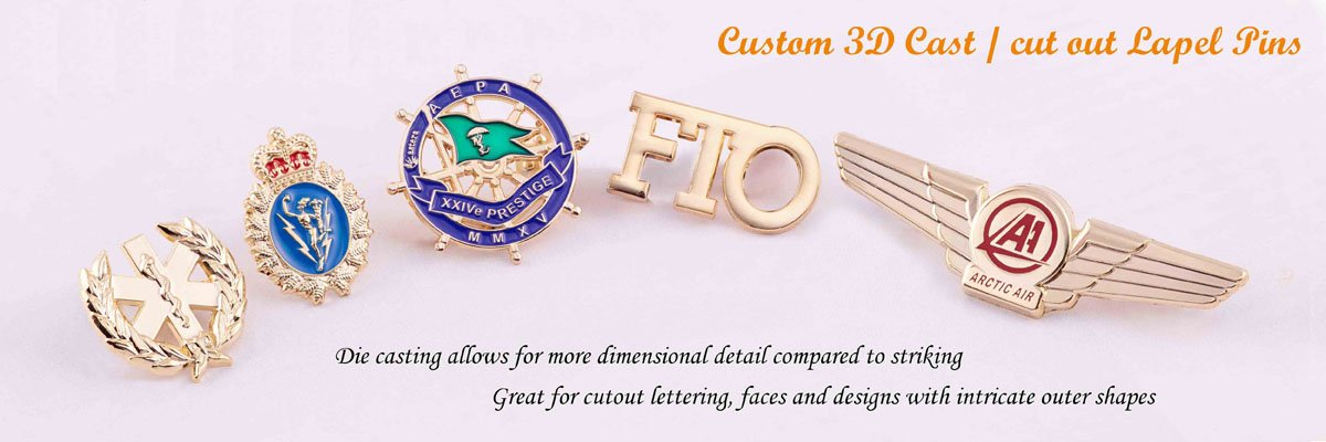 3D Cast /Cut Out Pins|Custom Lapel Pins|Cheap Custom Lapel Pins